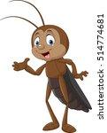 cartoon cricket presenting | Shutterstock . vector #514774681