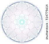 flower mandala. vintage... | Shutterstock .eps vector #514775614
