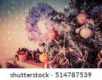 background for christmas card.... | Shutterstock . vector #514787539