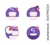 cooking instructions icons | Shutterstock .eps vector #514794214