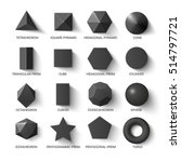 all basic 3d shapes template in ... | Shutterstock .eps vector #514797721