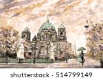 oil painting on canvas  street...   Shutterstock . vector #514799149