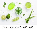 natural herbal skin care... | Shutterstock . vector #514801465
