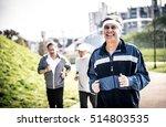group of seniors making jogging ... | Shutterstock . vector #514803535