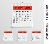 realistic wall calendar with... | Shutterstock .eps vector #514804585