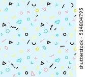 memphis seamless pattern of...   Shutterstock .eps vector #514804795