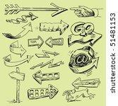 set of arrows | Shutterstock .eps vector #51481153