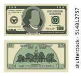 cartoon 100 currency us dollar... | Shutterstock .eps vector #514812757
