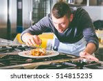 chef preparing delicious meal   Shutterstock . vector #514815235