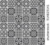 decorative monochrome tile... | Shutterstock .eps vector #514825141