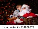 Santa Claus And A Little Boy....