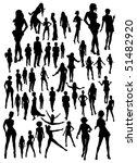 set of women silhouettes  jpg... | Shutterstock . vector #51482920