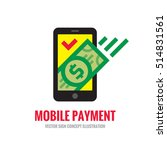 mobile phone payment icon in... | Shutterstock .eps vector #514831561
