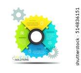 modern infographic design... | Shutterstock .eps vector #514836151