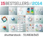 big set of 15 modern... | Shutterstock .eps vector #514836565