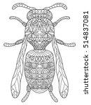 wasp coloring pet adult raster... | Shutterstock . vector #514837081