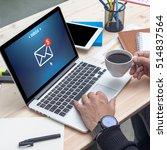 technology internet e mail... | Shutterstock . vector #514837564