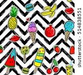 vector hand drawn seamless... | Shutterstock .eps vector #514838551