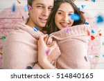 young couple in love embracing... | Shutterstock . vector #514840165