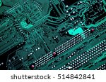 macro shot of a circuit board ...