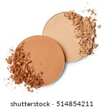 face powder isolated on white... | Shutterstock . vector #514854211