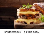 fresh sandwich with cheese and... | Shutterstock . vector #514855357