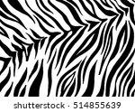 zebra stripes  animal skin ... | Shutterstock .eps vector #514855639