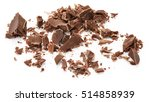 chocolate pieces and chocolate... | Shutterstock . vector #514858939
