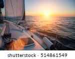 amazing sunset at sea shot of a ... | Shutterstock . vector #514861549