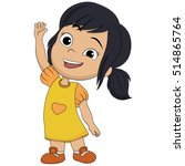 cute kid welcome.vector and... | Shutterstock .eps vector #514865764