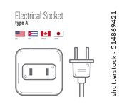 switches and sockets set. type... | Shutterstock .eps vector #514869421