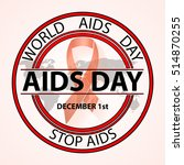 aids   vector badges. logo... | Shutterstock .eps vector #514870255