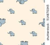babies hand draw seamless... | Shutterstock .eps vector #514870345