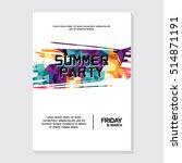 summer night party vector flyer ... | Shutterstock .eps vector #514871191