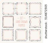 set hand drawn line border.... | Shutterstock .eps vector #514872505