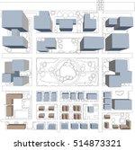 town planning diagram birds eye ... | Shutterstock .eps vector #514873321