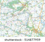 topographical map  a fragment... | Shutterstock .eps vector #514877959
