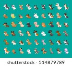 Stock vector different type of cartoon dogs 514879789