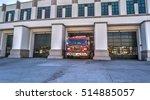 beverly hills fire truck exits... | Shutterstock . vector #514885057