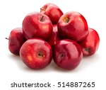 red delicious apples isolated | Shutterstock . vector #514887265