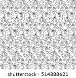 christmas elements. ... | Shutterstock .eps vector #514888621