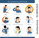 common cold. flat infographic   ... | Shutterstock .eps vector #514896565