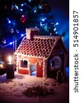 gingerbread house decorated... | Shutterstock . vector #514901857