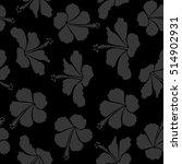 pattern on a black background... | Shutterstock . vector #514902931