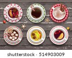set of different cups of... | Shutterstock .eps vector #514903009