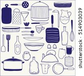 set of  hand drawn icons....   Shutterstock . vector #514903039
