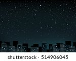 the night city and space with... | Shutterstock .eps vector #514906045