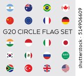a set of flat vector circle... | Shutterstock .eps vector #514906609