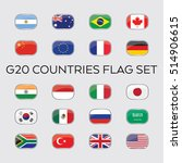 a set of vector flags for the... | Shutterstock .eps vector #514906615