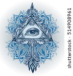 all seeing eye as a symbol of... | Shutterstock .eps vector #514908961